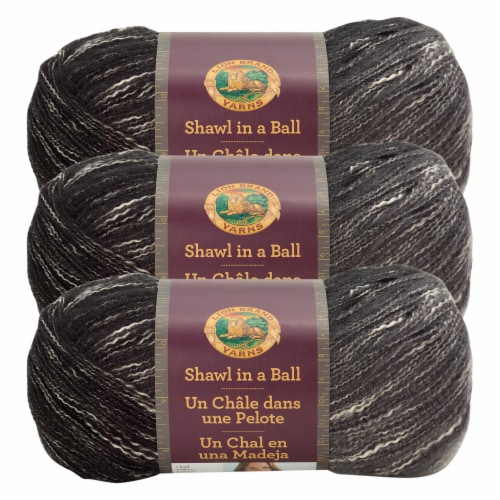 Lion Brand Shawl in a Ball Yarn - Feng Shui Grey Perspective: front