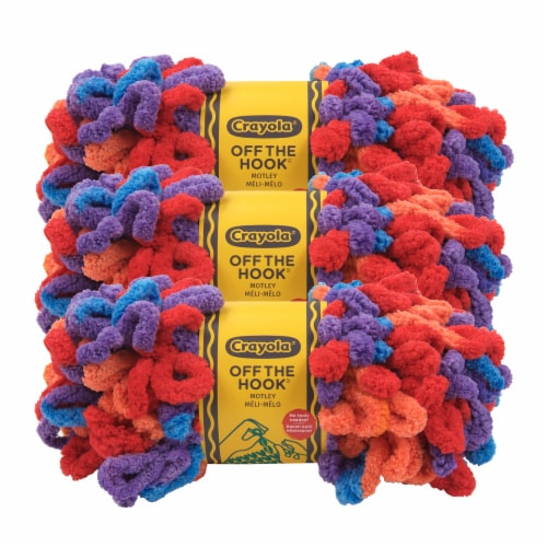 Lion Brand Crayola Off the Hook Motley Yarn Perspective: front