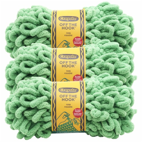 Lion Brand Crayola Off the Hook Yarn - Fern Perspective: front