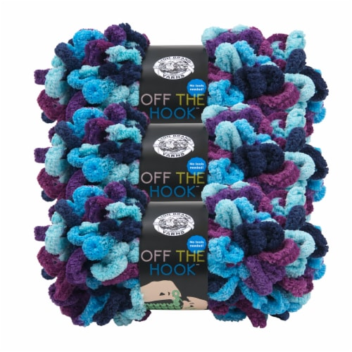 Lion Brand Off the Hook Yarn - Hypnotic Perspective: front