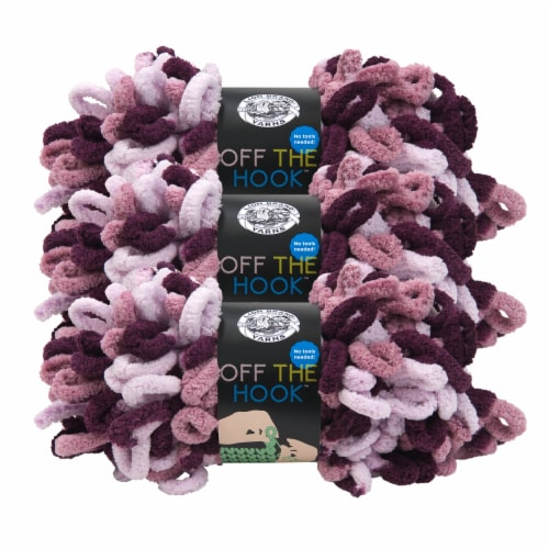Lion Brand Off the Hook Yarn - Grape Soda Perspective: front