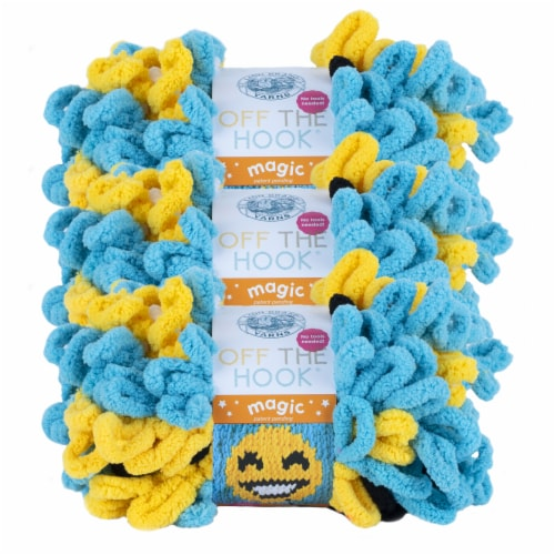 Lion Brand Off the Hook Magic Emoji Yarn Perspective: front