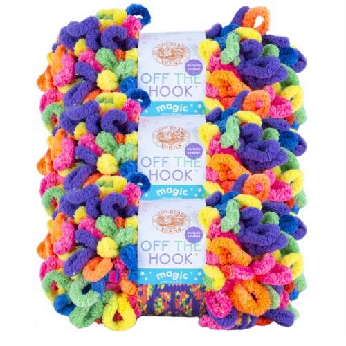 Lion Brand Off the Hook Magic Peace Sign Yarn Perspective: front