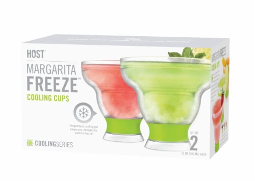 Host Margarita Freeze Cooling Cups Perspective: front