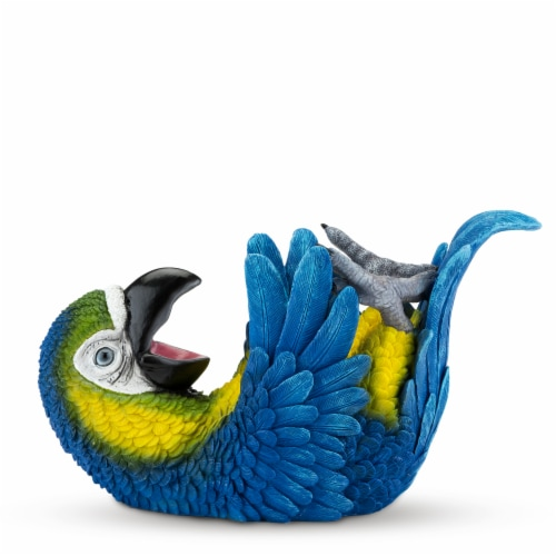 Polyresin Parched Parrot Bottle Holder by True Perspective: front