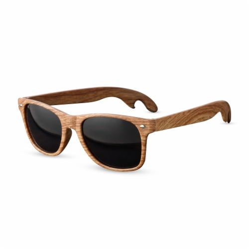 Faux Wood Bottle Opener Sunglasses by Foster & Rye™ Perspective: front