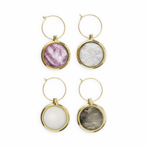 Agate Wine Charm Set by Twine® Perspective: front
