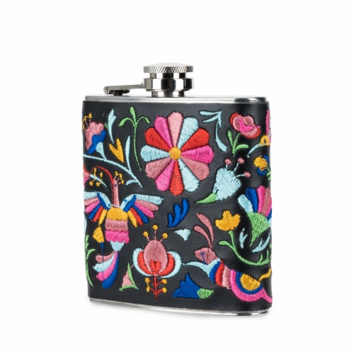 Embroidered Flask by Blush® Perspective: front