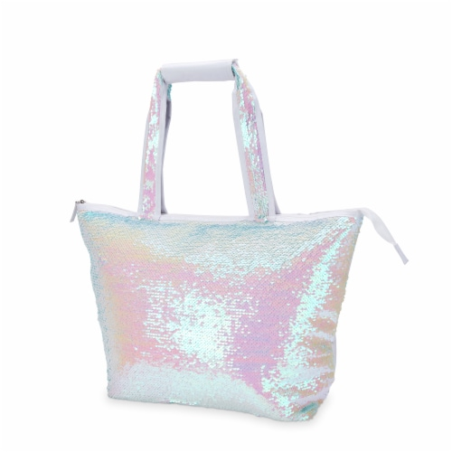 Mermaid Sequin Cooler Tote by Blush® Perspective: front