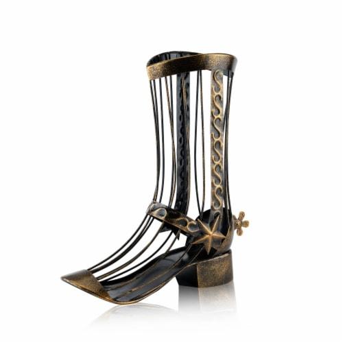 Boot Wine Cork Display Perspective: front