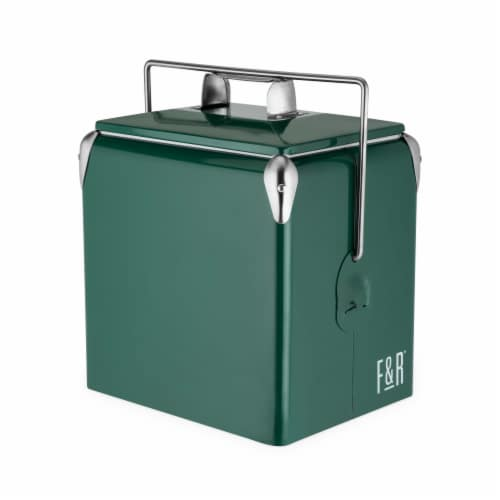 Vintage Metal Cooler by Foster & Rye™ Perspective: front