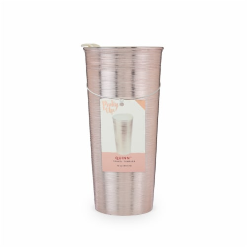 True Fabrications Travel Tumbler - Quinn Rose Gold Perspective: front