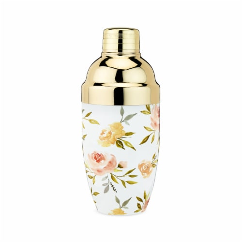 Watercolor Floral Cocktail Shaker by Twine® Perspective: front