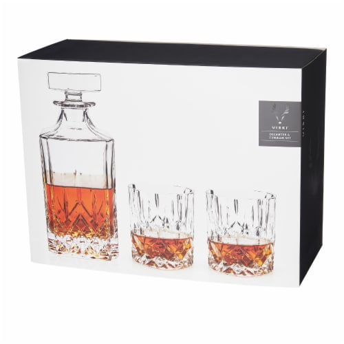 Admiral™ 3-Piece Decanter & Tumbler Set by Viski® Perspective: front