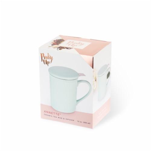 Pinky Up Annette Souk Ceramic Tea Mug & Infuser - Mint Perspective: front