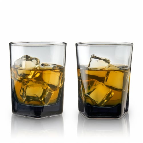 Smoke Double Old Fashioned Glasses by Viski® Perspective: front