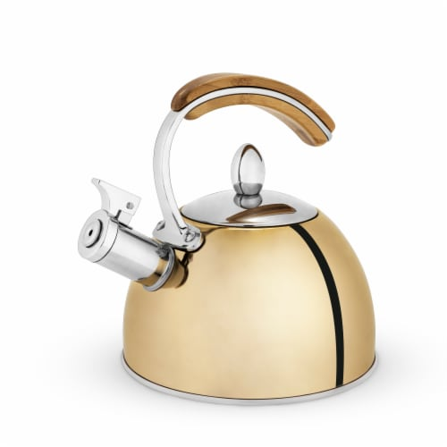 True Fabrications Tea Kettle - Presley Gold Perspective: front