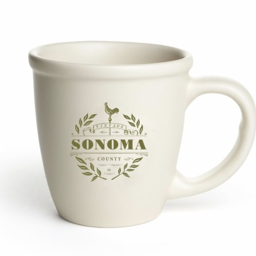 Vintage Sonoma Morning Mug, Off White Perspective: front