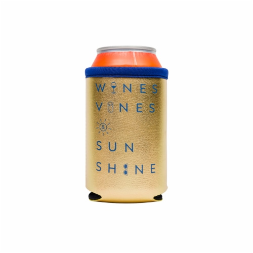 Distributed Wine Vines & Sunshine Metallic Can Sleeve Perspective: front