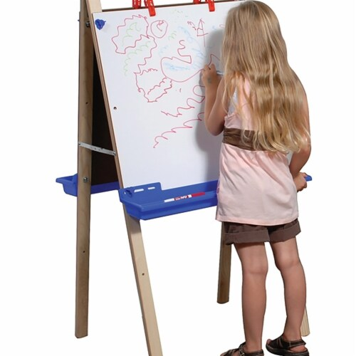 Angeles ANG1034 2 Station Adjustable Whiteboard Easel, 2 x 46 x 23 in. Perspective: front