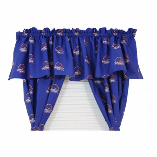College Covers BOICVL Boise State Printed Curtain Valance - 84 in. x 15 in. Perspective: front