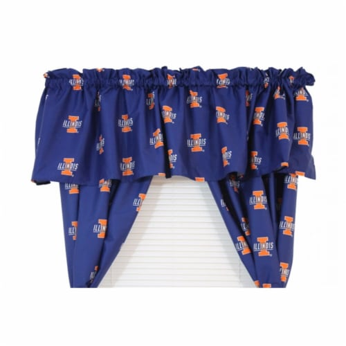 College Covers ILLCVL Illnois Printed Curtain Valance - 84 in. x 15 in. Perspective: front