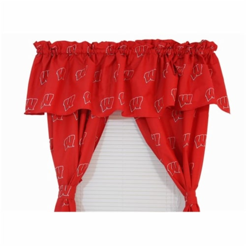 College Covers WISCVL Wisconsin Printed Curtain Valance - 84 in. x 15 in. Perspective: front