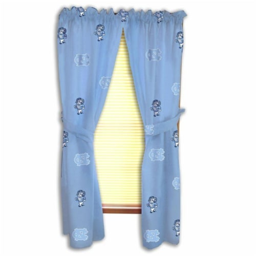 College Covers NCUCP63 UNC Printed Curtain Panels 42 in. X 63 in. Perspective: front