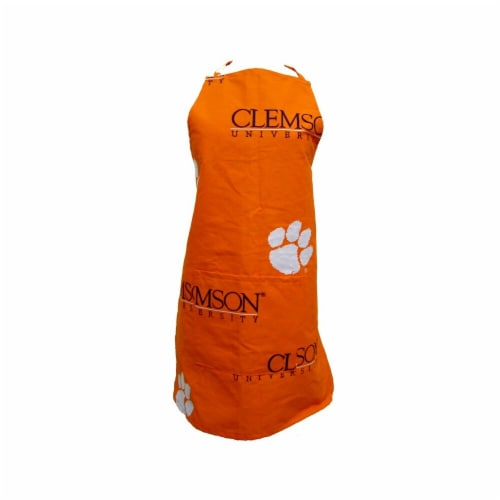 College Covers Clemson Apron 26 in.X35 in. with 9 in. pocket Perspective: front