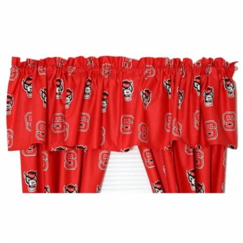 College Covers NCSCVL NC State Printed Curtain Valance- 84 x 15 Perspective: front