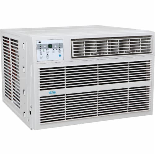 Perfect Aire 12,000 BTU 550 Sq. Ft. Window Air Conditioner with Electric Heater Perspective: front