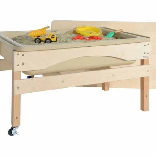 Wood Designs 11825TN Absolute Best Sand & Water Sensory Center with Lid Perspective: front