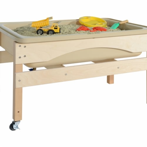 Wood Designs 11835TN Absolute Best Sand & Water Sensory Center without Lid Perspective: front