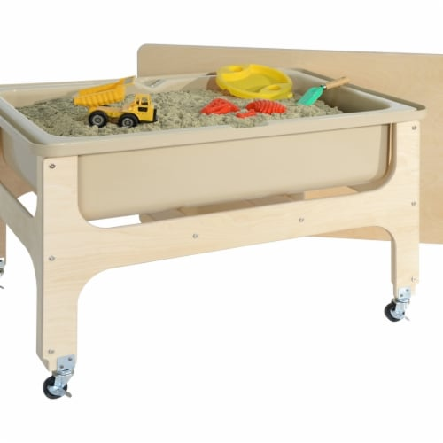 Wood Designs 11875TN Tot Size Deluxe Sand & Water Table with Lid Perspective: front