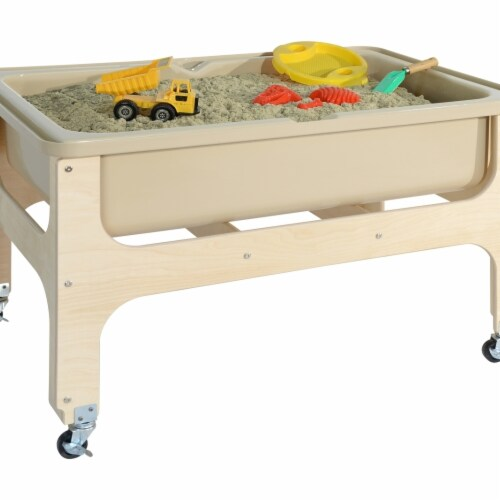 Wood Designs 11876TN Tot Size Deluxe Sand & Water Table without Lid Perspective: front