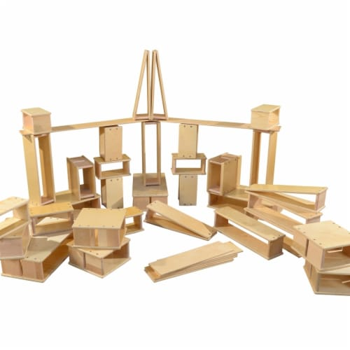 Wood Designs 991205-40PC Hollow Blocks Set - 40 Piece Perspective: front