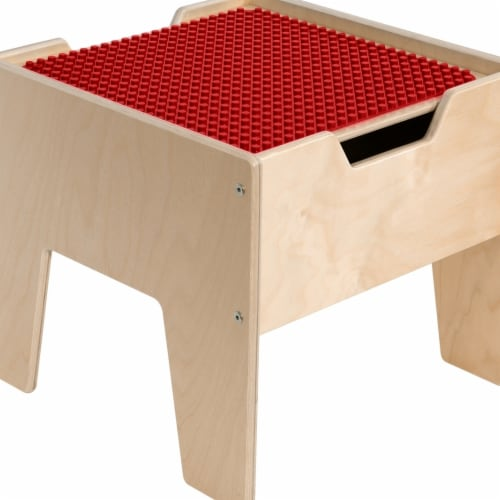 Contender C991300-PR 2-N-1 Activity Table with Red DUPLO Compatible Top - RTA Perspective: front