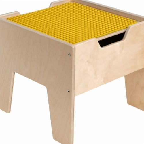 Contender C991300-PY 2-N-1 Activity Table with Yellow DUPLO Compatible Top - RTA Perspective: front