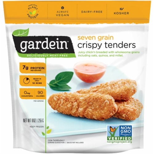 Gardein Seven Grain Meat-Free Crispy Tenders Perspective: front