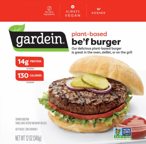 Gardein The Ultimate Beefless Burger Perspective: front