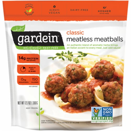 Gardein Classic Meatless Meatballs Perspective: front