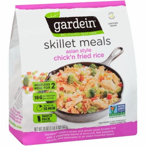 Gardein Skillet Meals Asian Style Meatless Chick'n Fried Rice Perspective: front