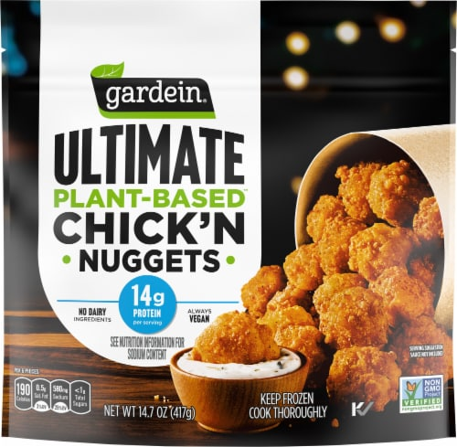 Gardein Ultimate Vegan Plant Based Chick'n Nuggets Perspective: front