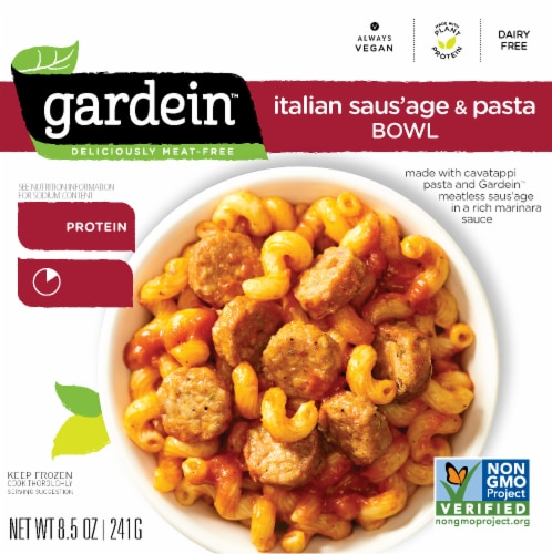 Gardein Meatless Italian Saus'age & Pasta Bowl Perspective: front