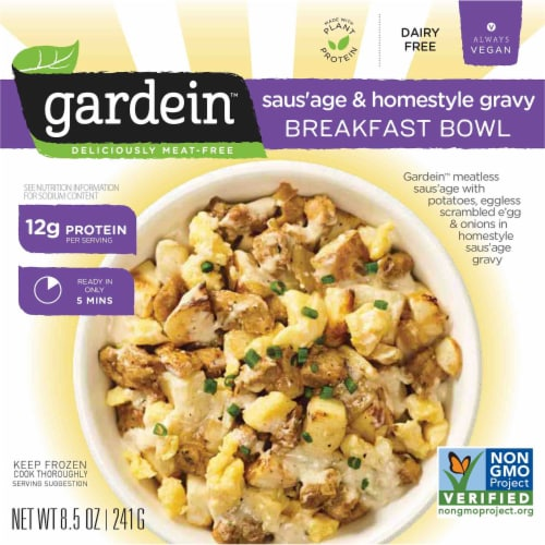 Gardein Saus'age & Homestyle Gravy Breakfast Bowl Perspective: front