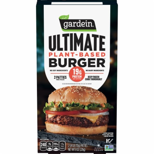 Gardein Ultimate Plant-Based Burger Patties Perspective: front