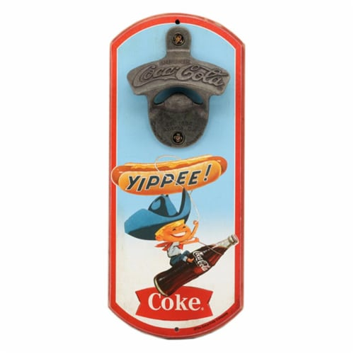 Coca-Cola 90170588-S Yippee Things Go Better with Coke Bottle Opener Perspective: front
