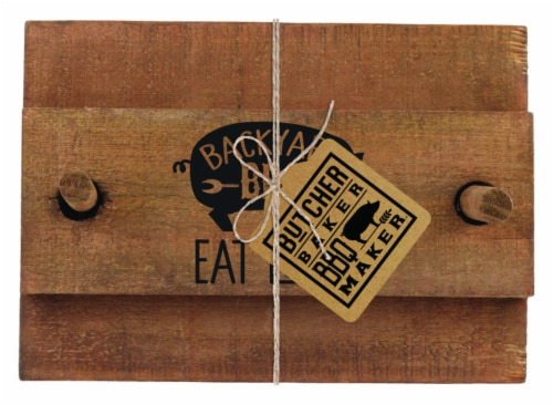 Open Road Brands 9731142 Eat Local Napkin Holder, Wood - 4 per Pack Perspective: front