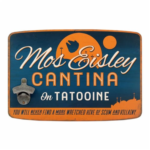 Star Wars 90169378-S Mos Eisley Cantina Bottle Opener Decor Perspective: front