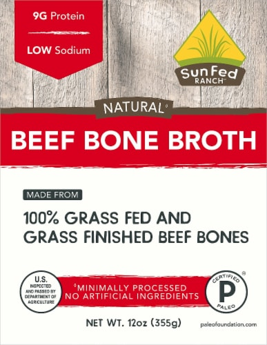SunFed Ranch Natural Beef Bone Broth Perspective: front